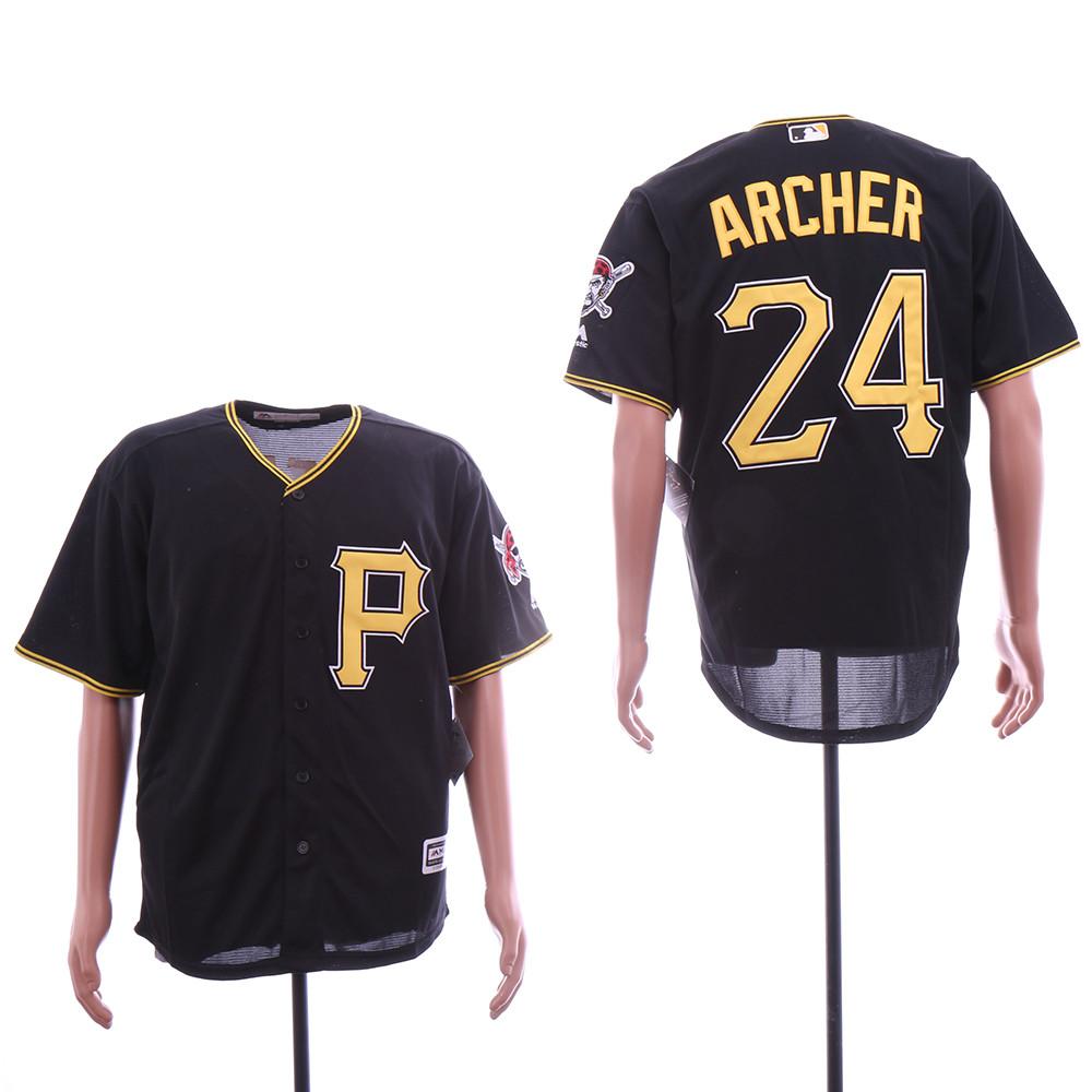 Pirates Chris Archer Black Cool Base Jersey