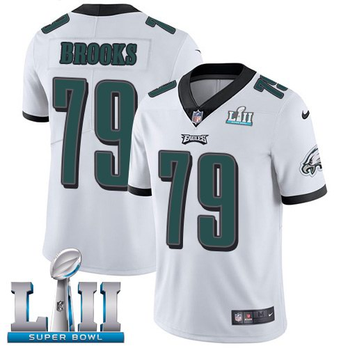 Nike Eagles 79 Brandon Brooks White 2018 Super Bowl LII Youth Vapor Untouchable Limited Jersey