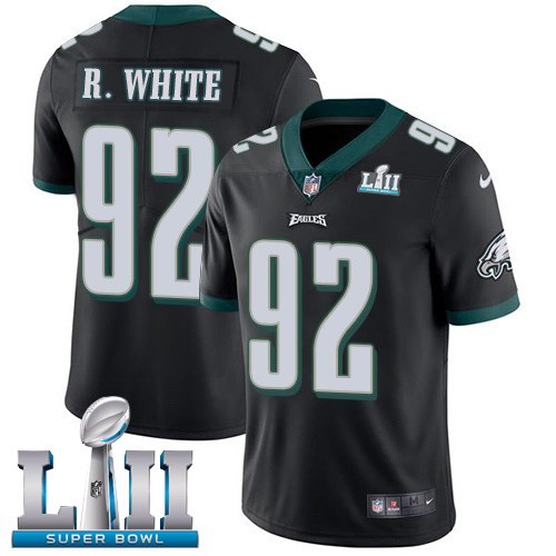 Nike Eagles 92 Reggie White Black 2018 Super Bowl LII Youth Vapor Untouchable Limited Jersey