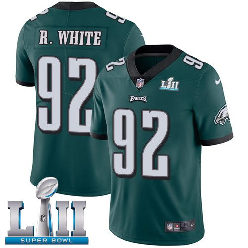 Nike Eagles 92 Reggie White Green 2018 Super Bowl LII Youth Vapor Untouchable Limited Jersey