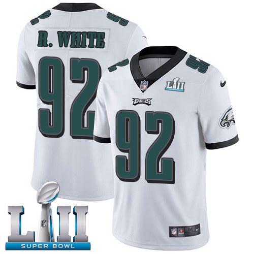 Nike Eagles 92 Reggie White White 2018 Super Bowl LII Youth Vapor Untouchable Limited Jersey