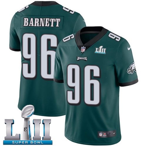 Nike Eagles 96 Derek Barnett Green 2018 Super Bowl LII Youth Vapor Untouchable Limited Jersey