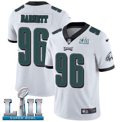 Nike Eagles 96 Derek Barnett White 2018 Super Bowl LII Youth Vapor Untouchable Limited Jersey