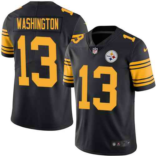 Nike Steelers 13 James Washington Black Youth Color Rush Limited Jersey