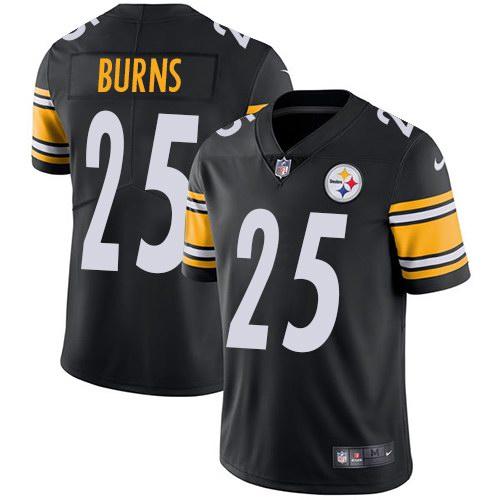 Nike Steelers 25 Artie Burns Black Vapor Untouchable Limited Jersey