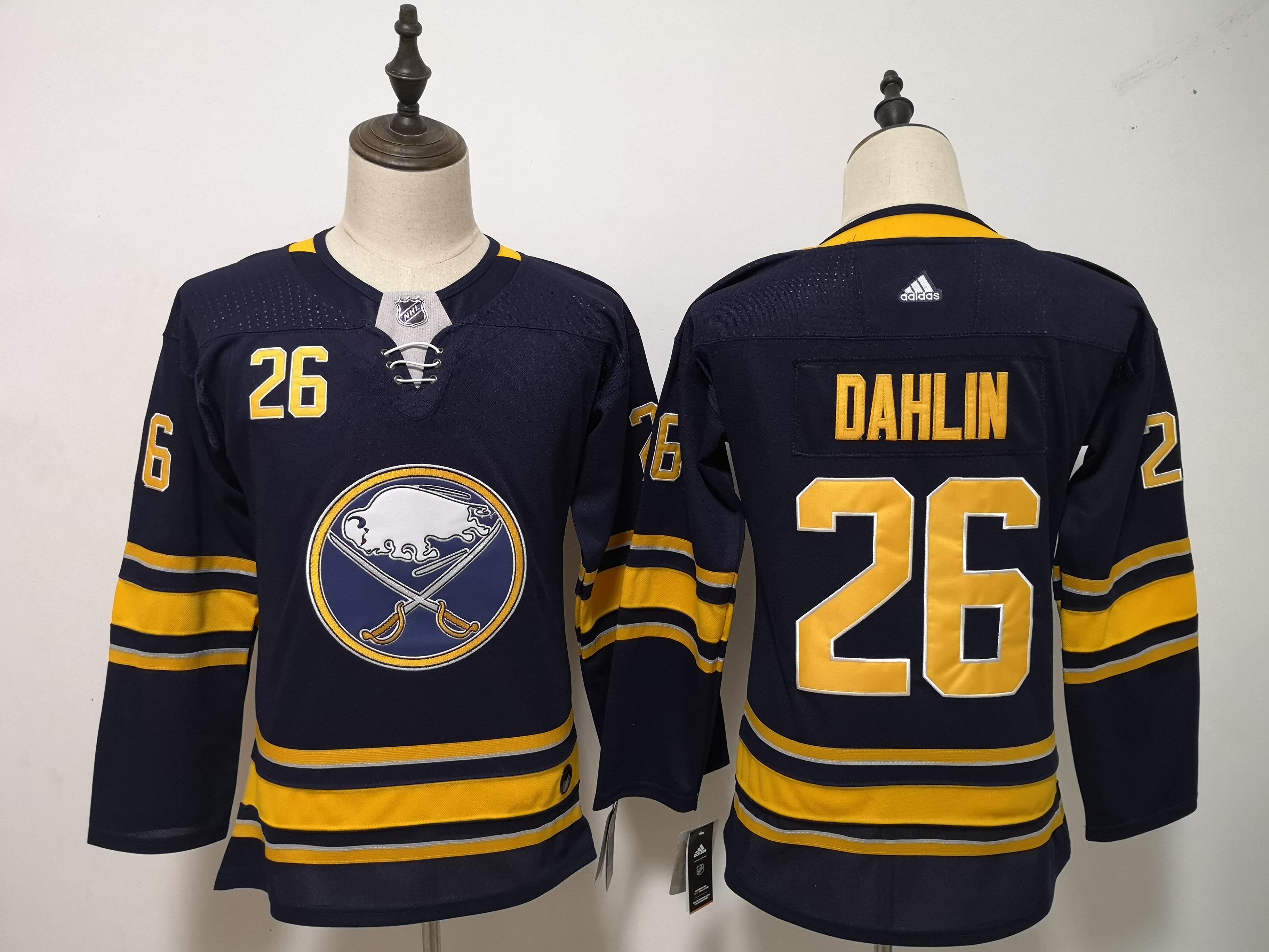 Sabres 26 Rasmus Dahlin Navy Youth Adidas Jersey