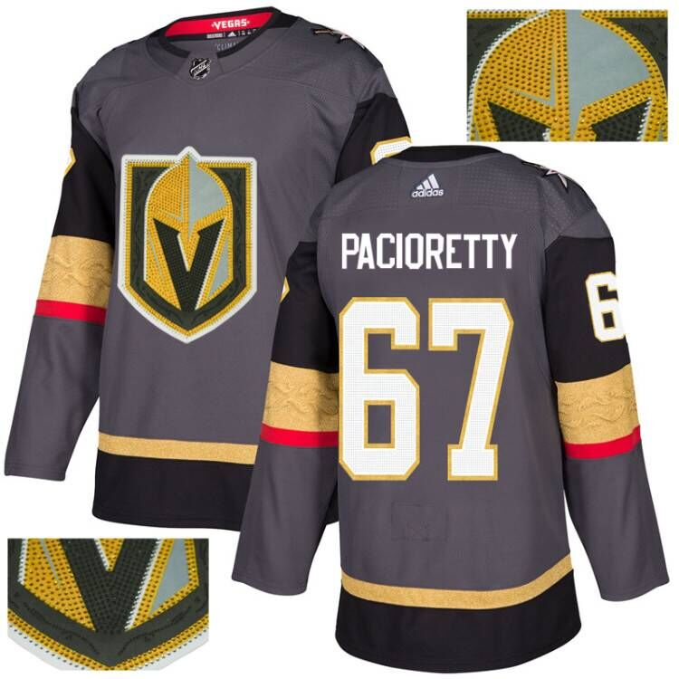 Vegas Golden Knights 67 Max Pacioretty Gray With Special Glittery Logo Adidas Jersey