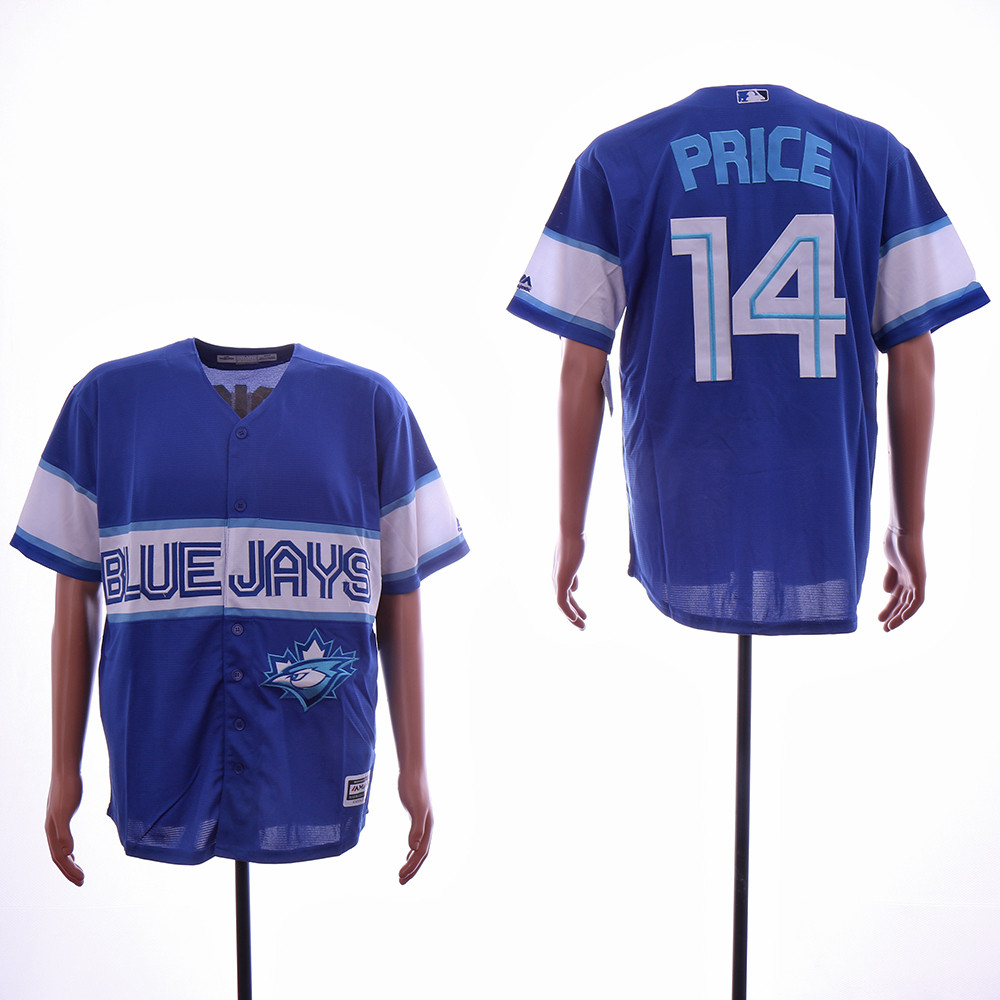 Blue Jays 14 David Price Royal Cool Base Jersey