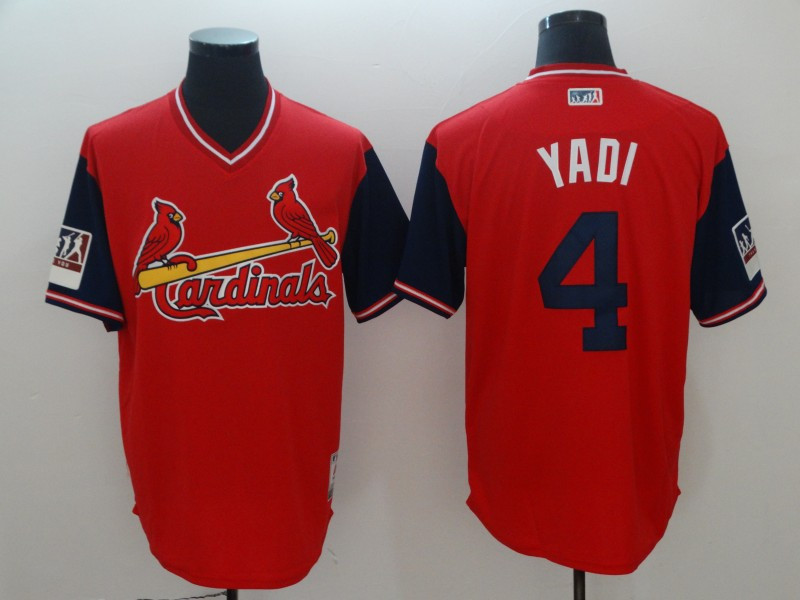 Cardinals 4 Yadier Molina Yadi Red 2018 Players' Weekend Authentic Team Jersey