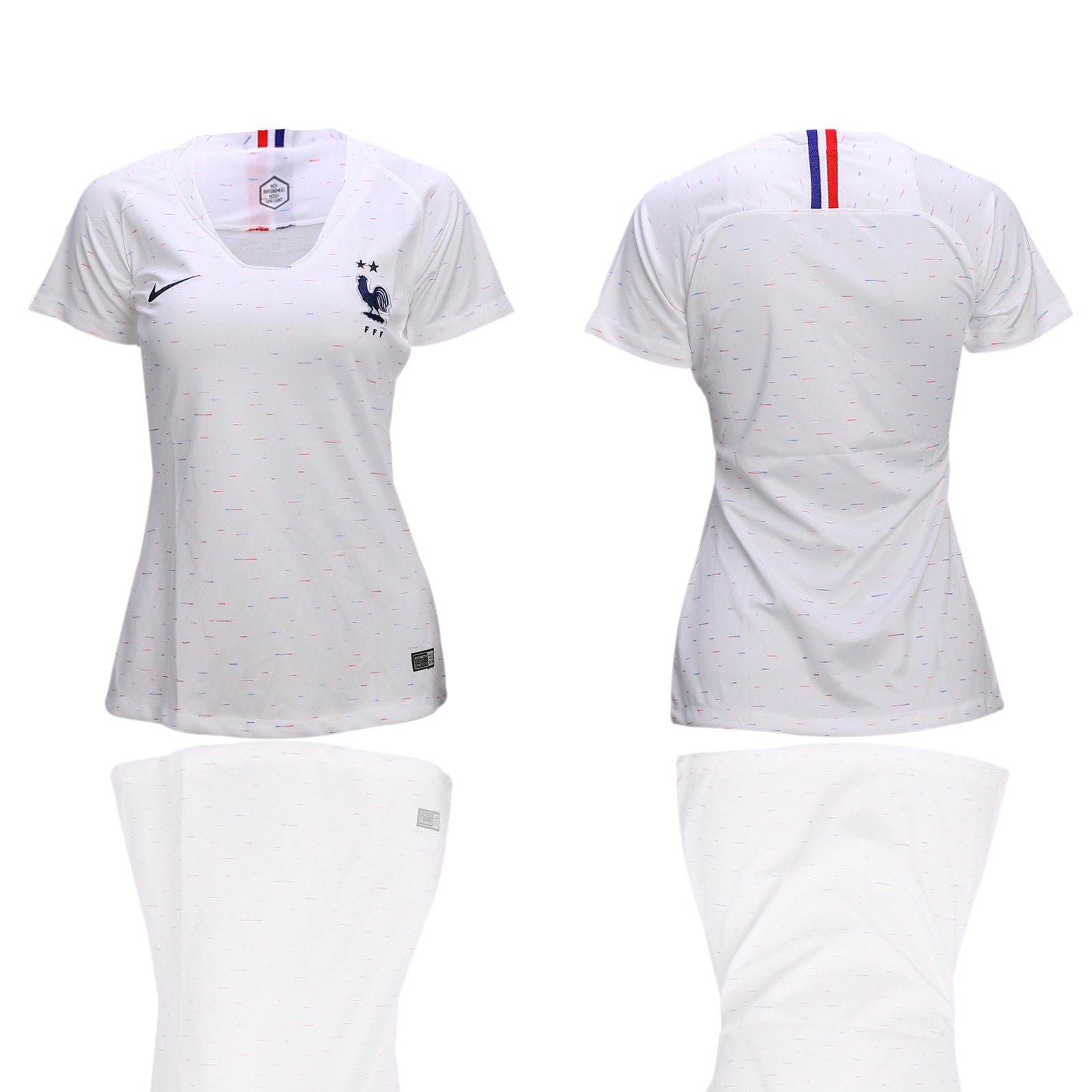 France Away 2-Star Women 2018 FIFA World Cup Soccer Jersey