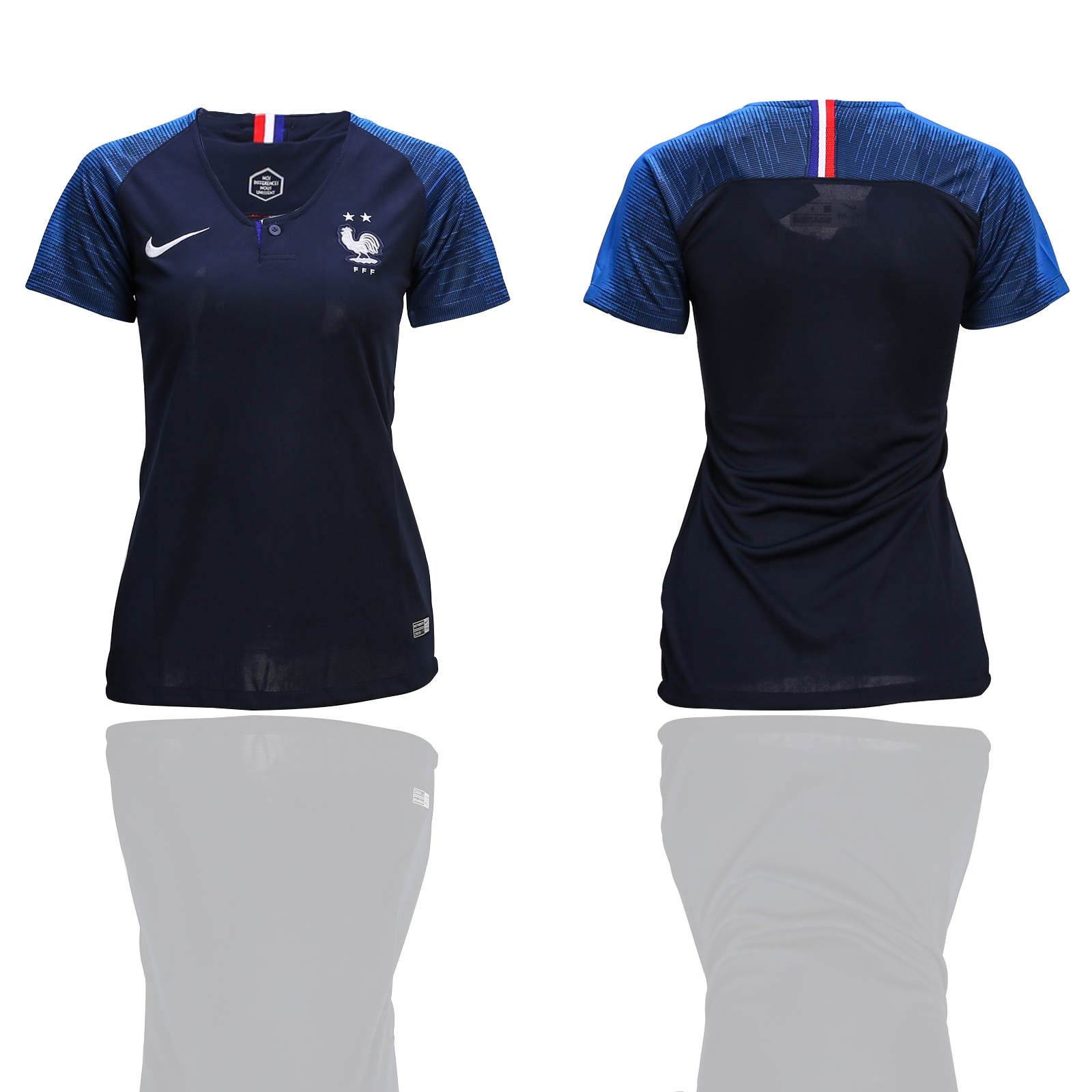 France Home 2-Star Women 2018 FIFA World Cup Soccer Jersey