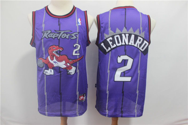 Raptors 2 Kawhi Leonard Purple Hardwood Classics Jersey