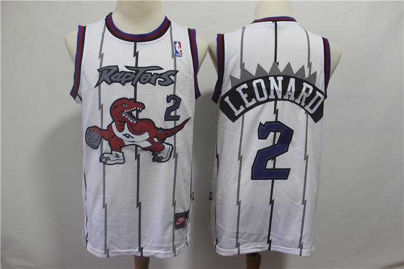 Raptors 2 Kawhi Leonard White Hardwood Classics Jersey