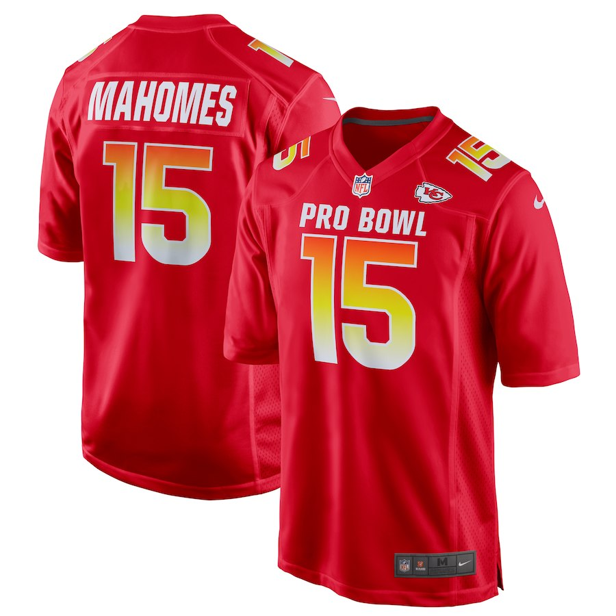 Nike AFC Chiefs 15 Patrick Mahomes Red 2019 Pro Bowl Game Jersey