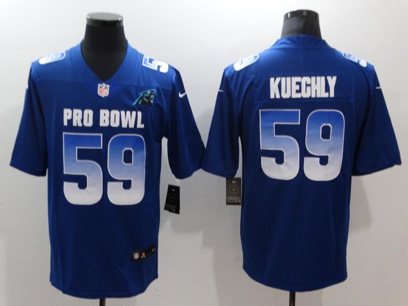 Nike NFC Panthers 59 Luke Kuechly Royal 2019 Pro Bowl Game Jersey