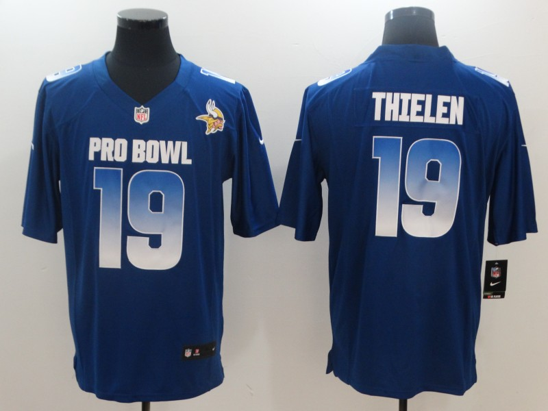 Nike NFC Vikings 19 Adam Thielen Royal 2019 Pro Bowl Game Jersey