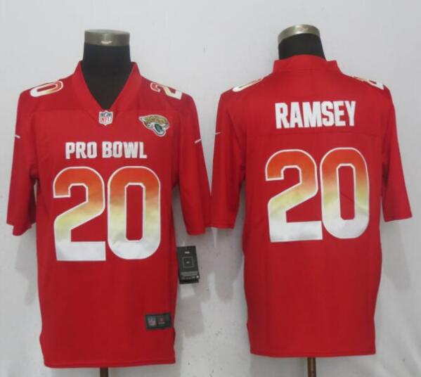 Nike AFC Jaguars 20 Jalen Ramsey Red 2019 Pro Bowl Limited Jersey