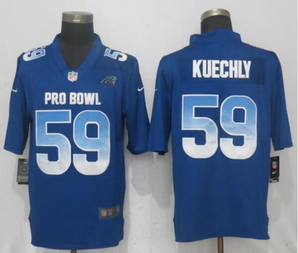 Nike NFC Panthers 59 Luke Kuechly Royal 2019 Pro Bowl Limited Jersey