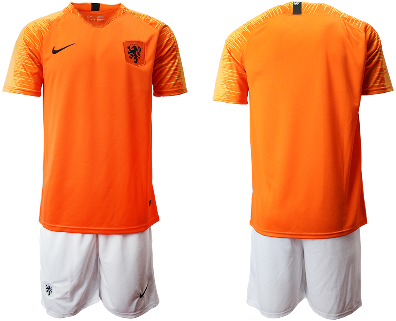 2018-19 Netherlands Home Soccer Jersey