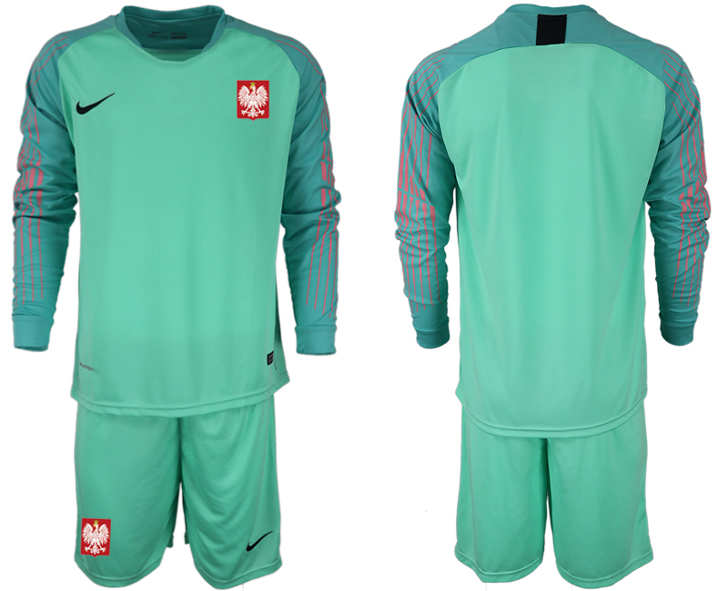 Poland Green 2018 FIFA World Cup Long Sleeve Goalkeeper Soccer Jersey