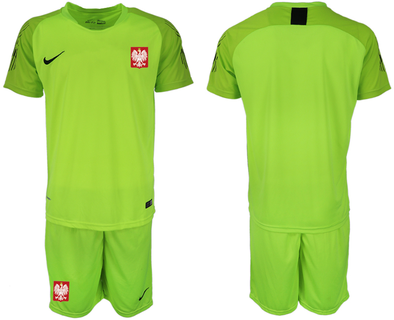 Poland Fluorescent Green 2018 FIFA World Cup Goalkeeper Soccer Jersey