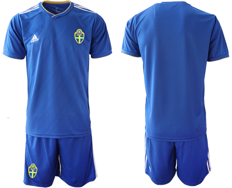 Sweden Away 2018 FIFA World Cup Soccer Jersey
