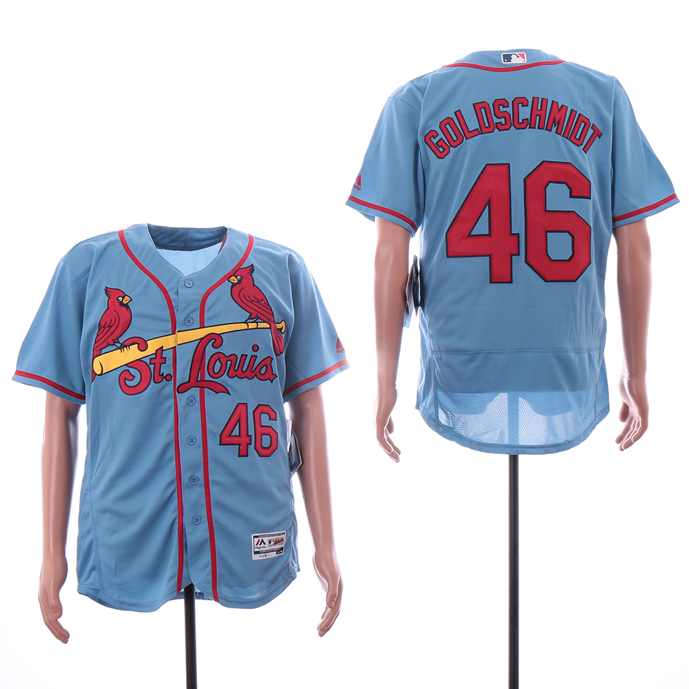 Cardinals 46 Paul Goldschmidt Light Blue Flexbase Jersey