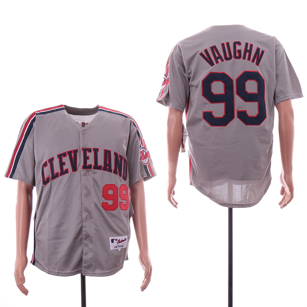 Indians 99 Ricky Vaughn Gray Turn Back The Clock Jersey