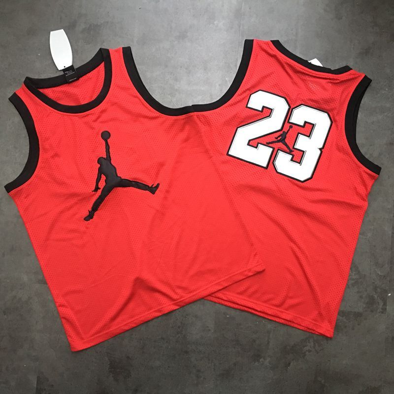 Jordan Logo #23 Red Mesh Basketball Jersey