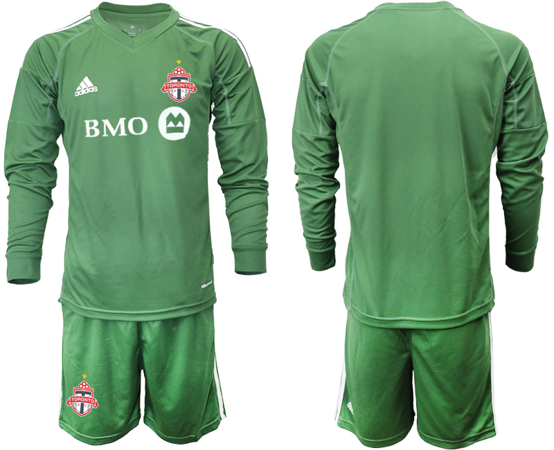 2018-19 Toronto FC Army Green Long Sleeve Soccer Jersey