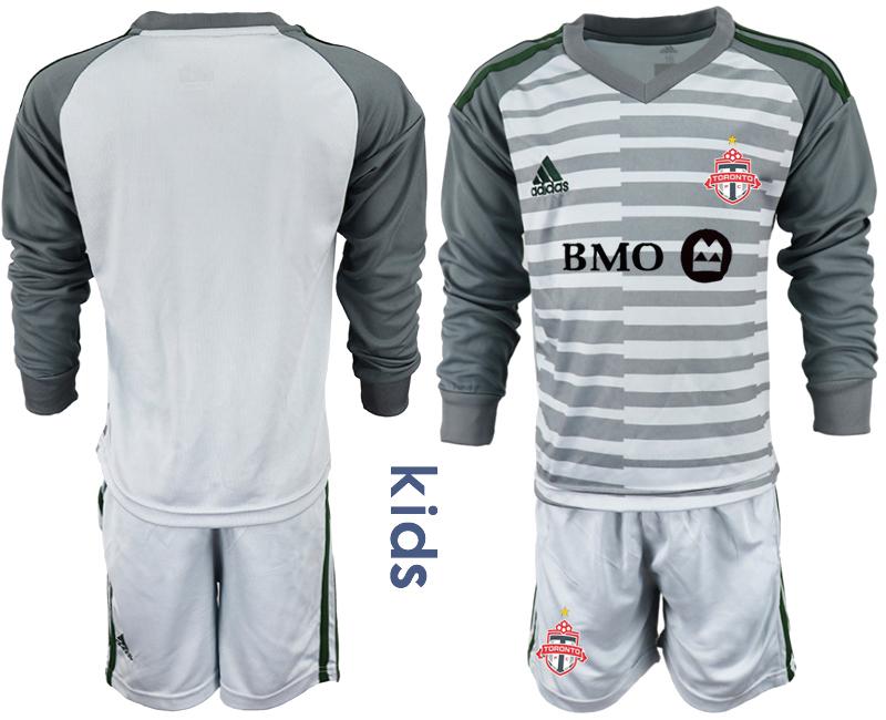 2018-19 Toronto FC Gray Youth Long Sleeve Soccer Jersey