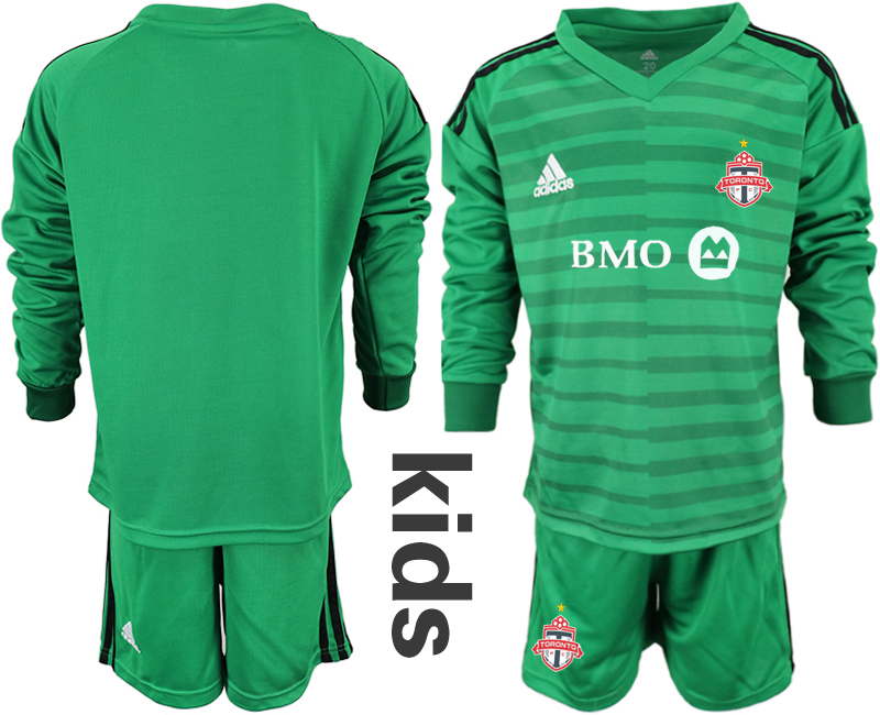 2018-19 Toronto FC Green Youth Long Sleeve Soccer Jersey