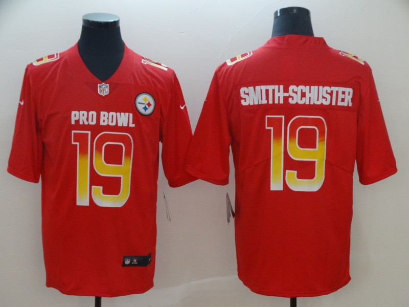 Nike AFC Steelers 19 JuJu Smith-Schuster Red 2019 Pro Bowl Game Jersey