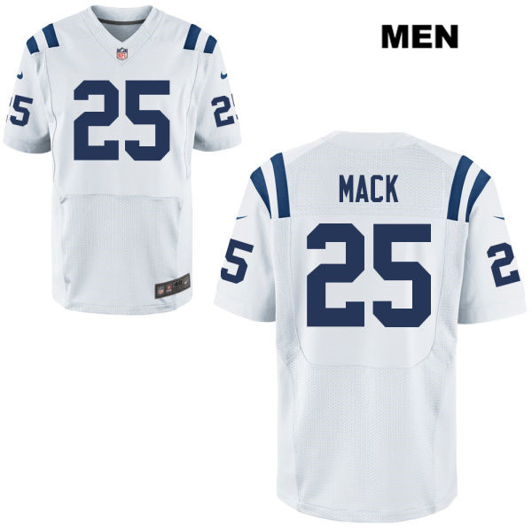 Nike Colts 25 Marlon Mack White Elite Jersey