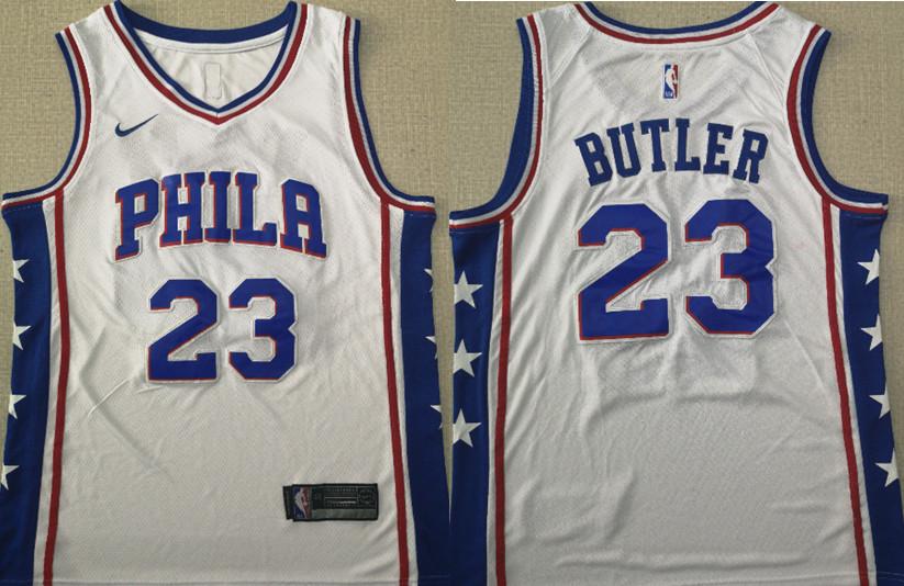 76ers 23 Jimmy Butler White Nike Swingman Jersey