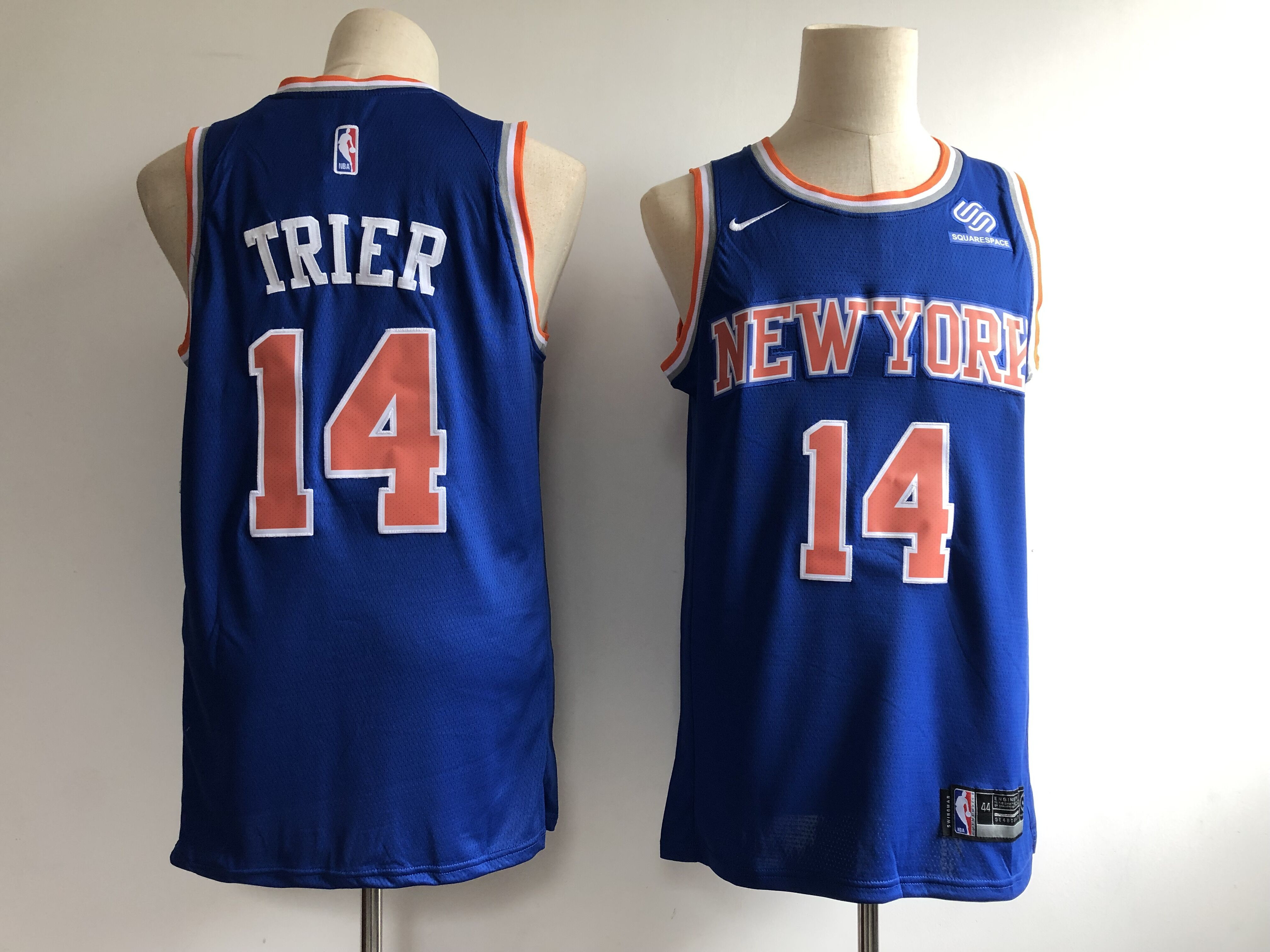 Knicks 14 Allonzo Trier Blue Nike Swingman Jersey