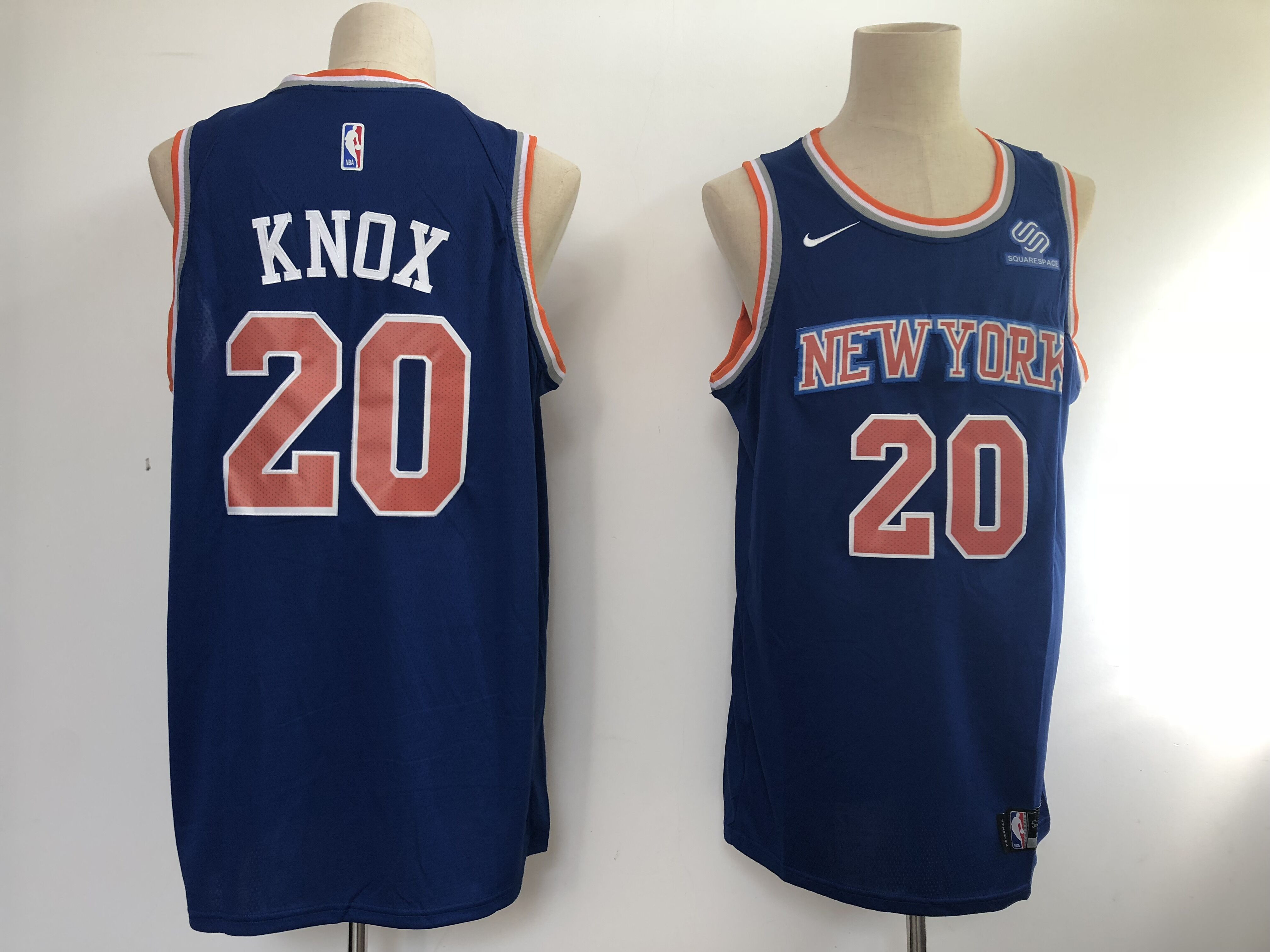 Knicks 20 Kevin Knox Blue Nike Swingman Jersey