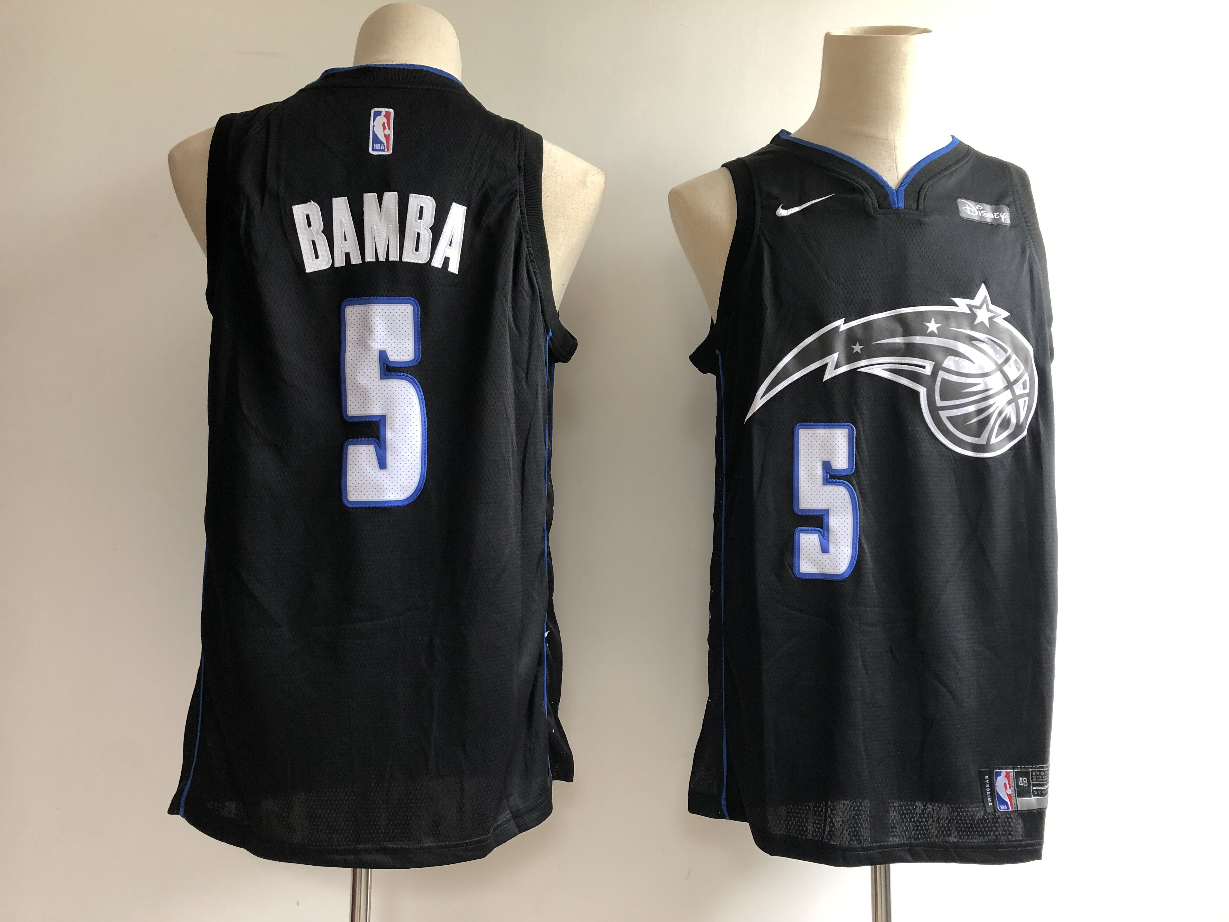 Magic 5 Mohamed Bamba Black 2018-19 City Edition Nike Swingman Jersey