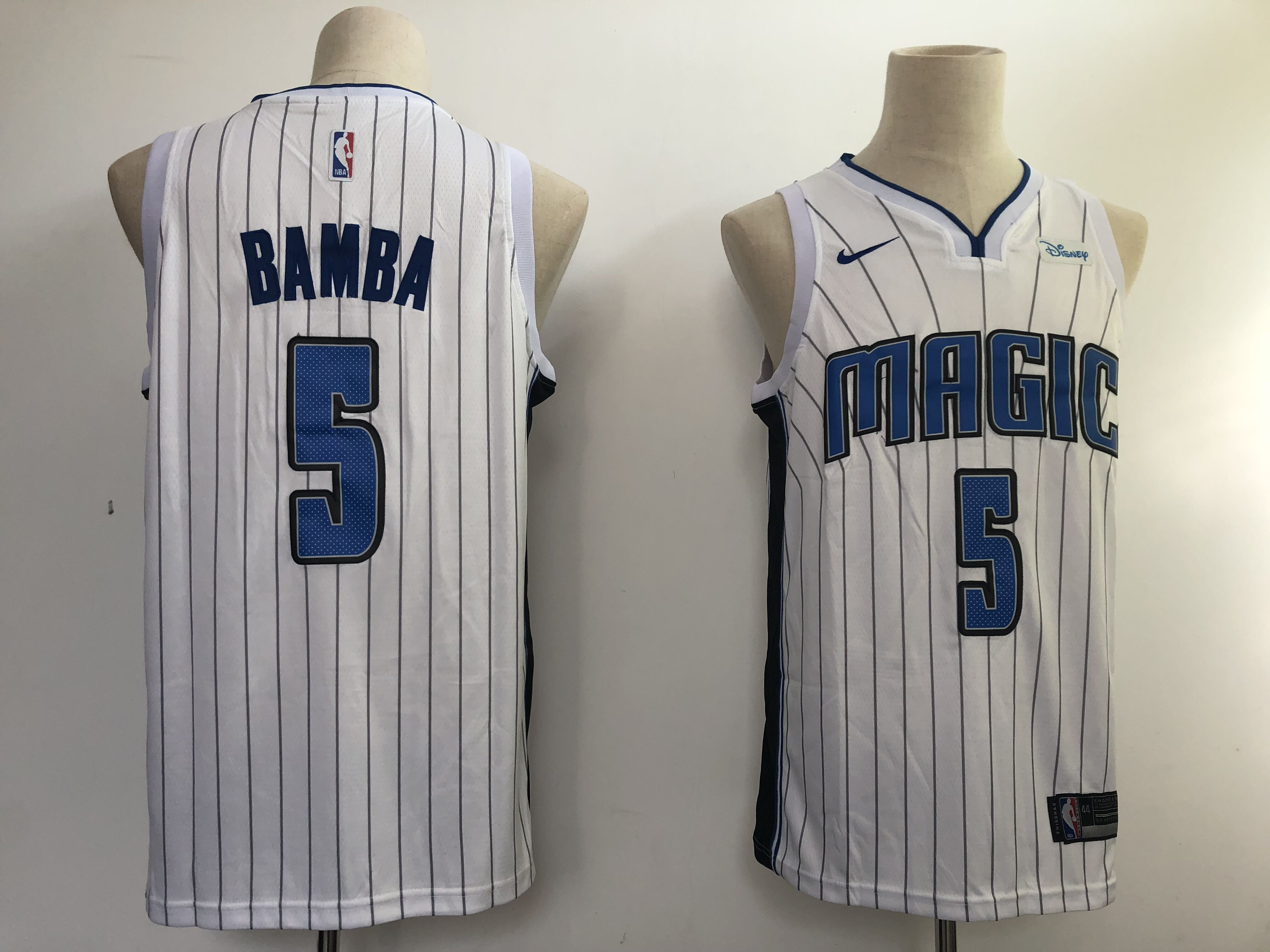 Magic 5 Mohamed Bamba White Nike Swingman Jersey