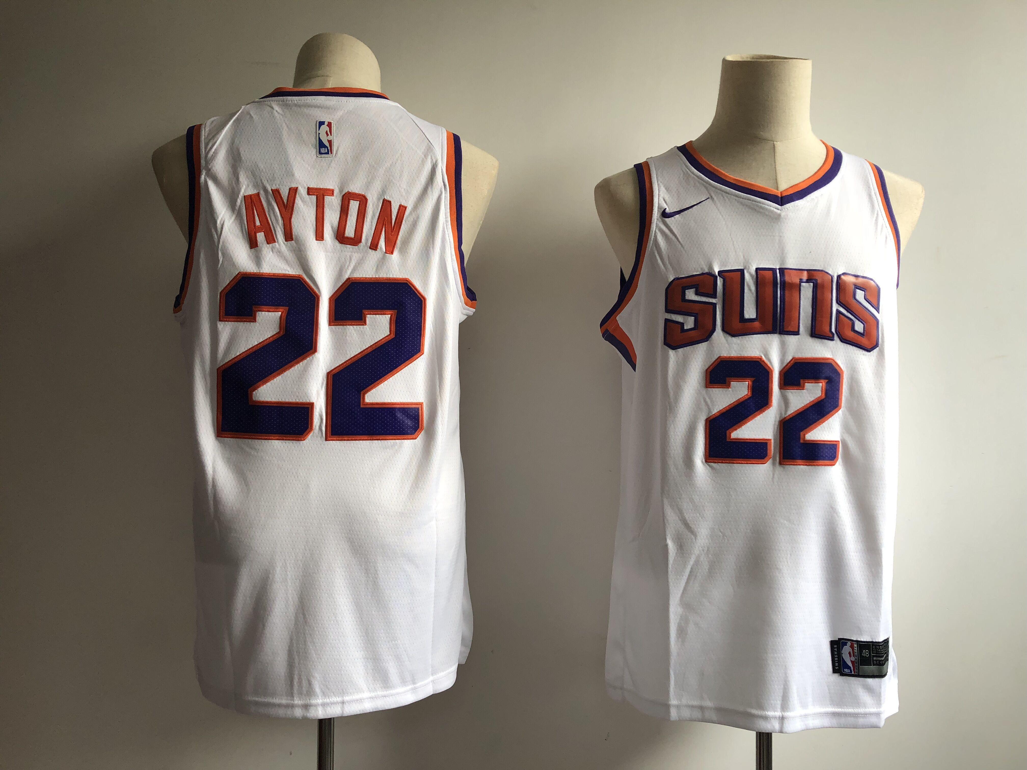 Suns 22 Deandre Ayton White Nike Swingman Jersey