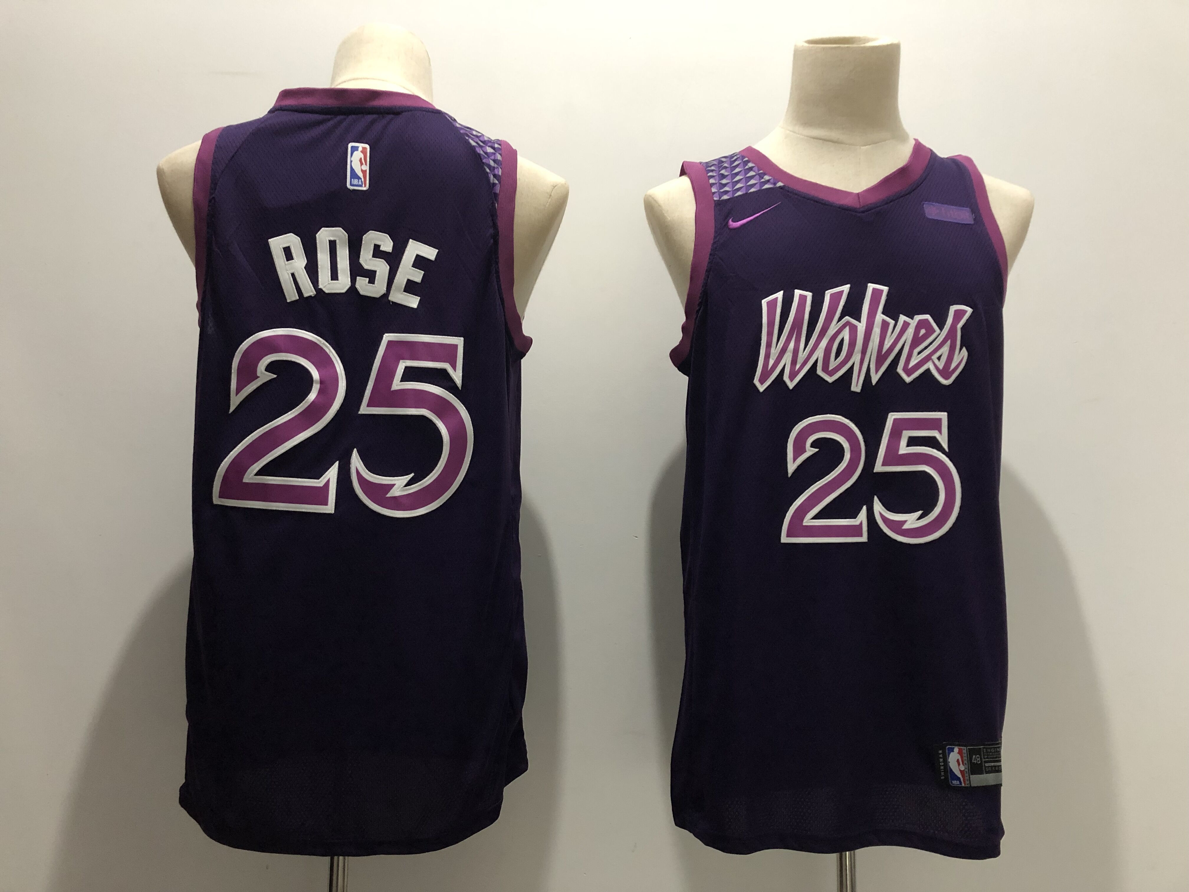 Timberwolves 25 Derrick Rose Purple 2018-19 City Edition Nike Swingman Jersey