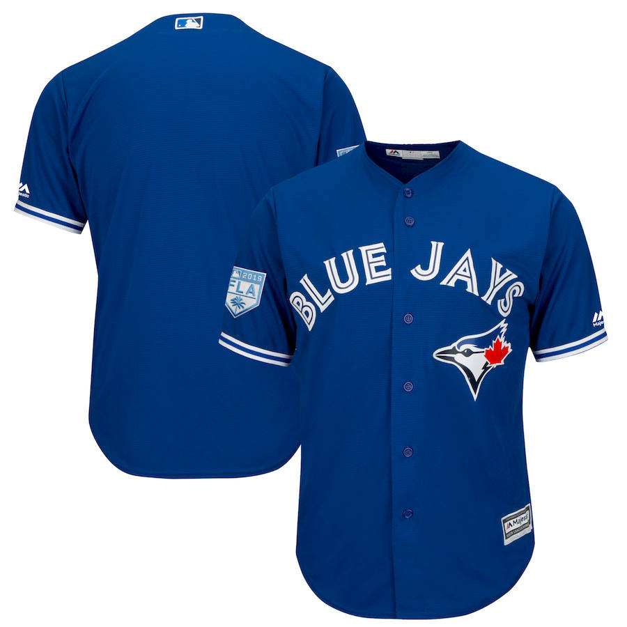 Blue Jays Royal 2019 Spring Training Cool Base Jersey