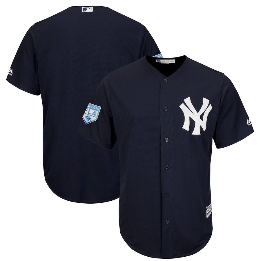 Yankees Royal 2019 Spring Training Cool Base Jersey