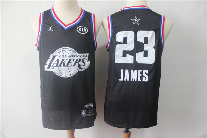Lakers 23 Lebron James Black 2019 NBA All-Star Game Jordan Brand Swingman Jersey