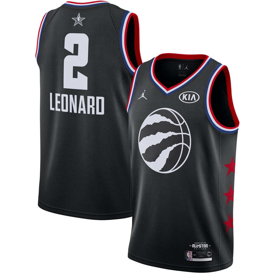 Raptors 2 Kawhi Leonard Black 2019 NBA All-Star Game Jordan Brand Swingman Jersey
