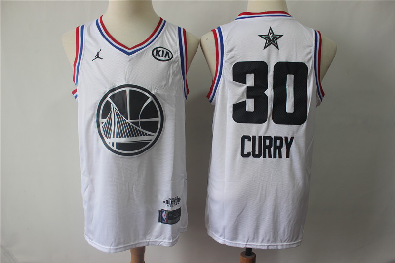 Warriors 30 Stephen Curry White 2019 NBA All-Star Game Jordan Brand Swingman Jersey