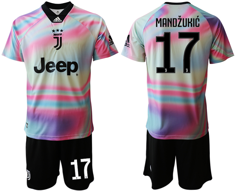 2018-19 Juventus 17 MANDZUKIC Maglia EA SPORTS Soccer Jersey