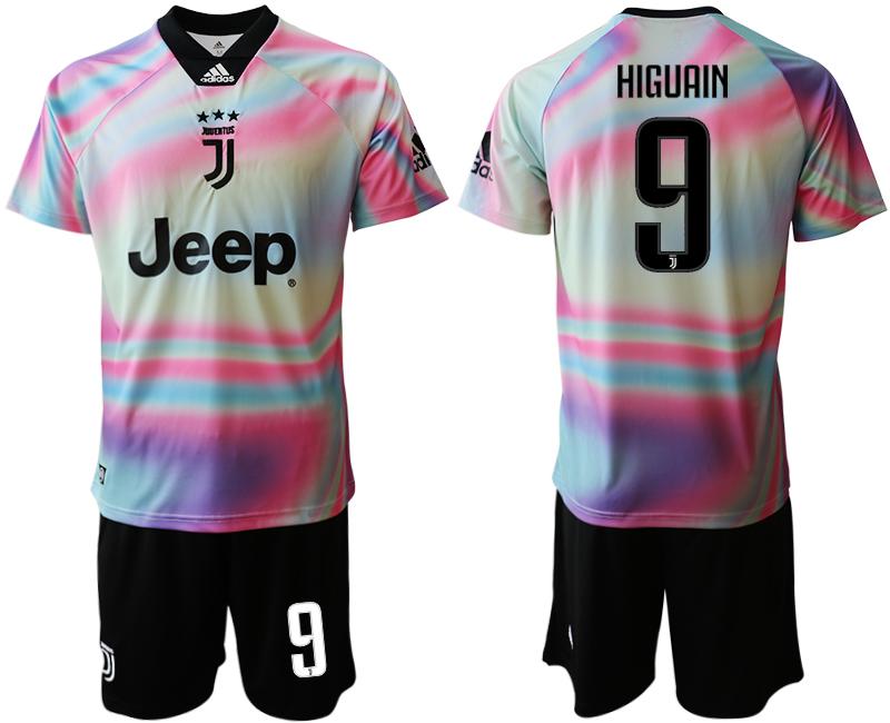 2018-19 Juventus 9 HIGUAIN Maglia EA SPORTS Soccer Jersey