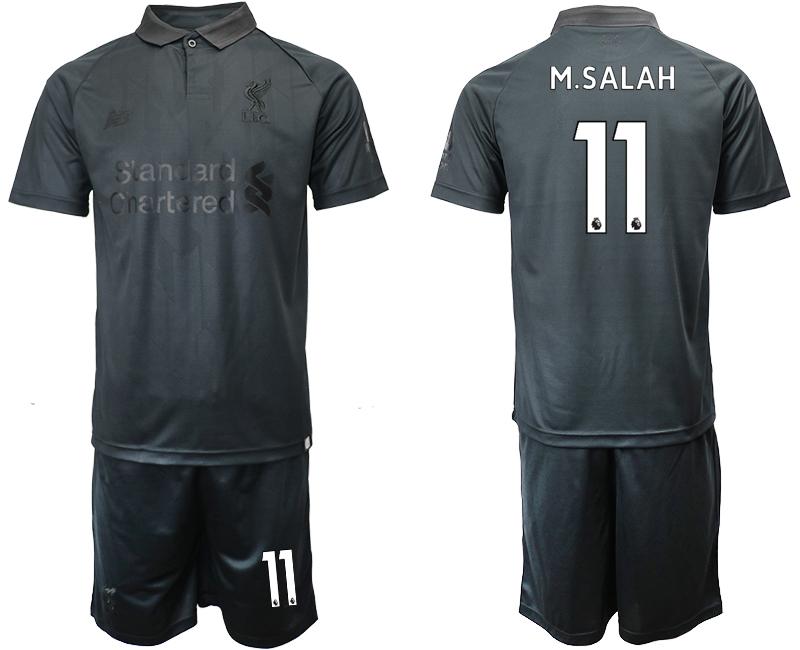 2018-19 Liverpool 11 M.SALAH Black Goalkeeper Soccer Jersey