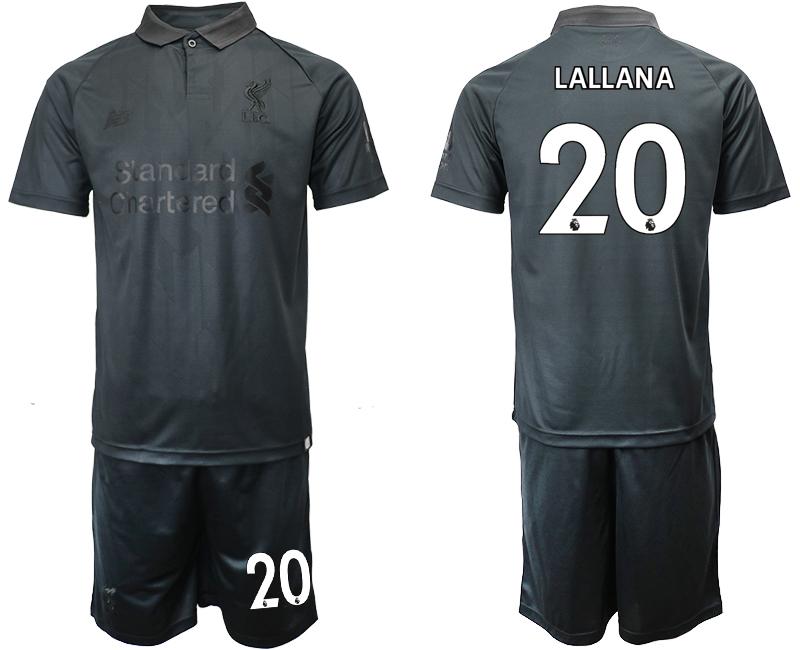 2018-19 Liverpool 20 LALLANA Black Goalkeeper Soccer Jersey